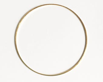 20 pcs of Gold plated brass round connector rings 40mm