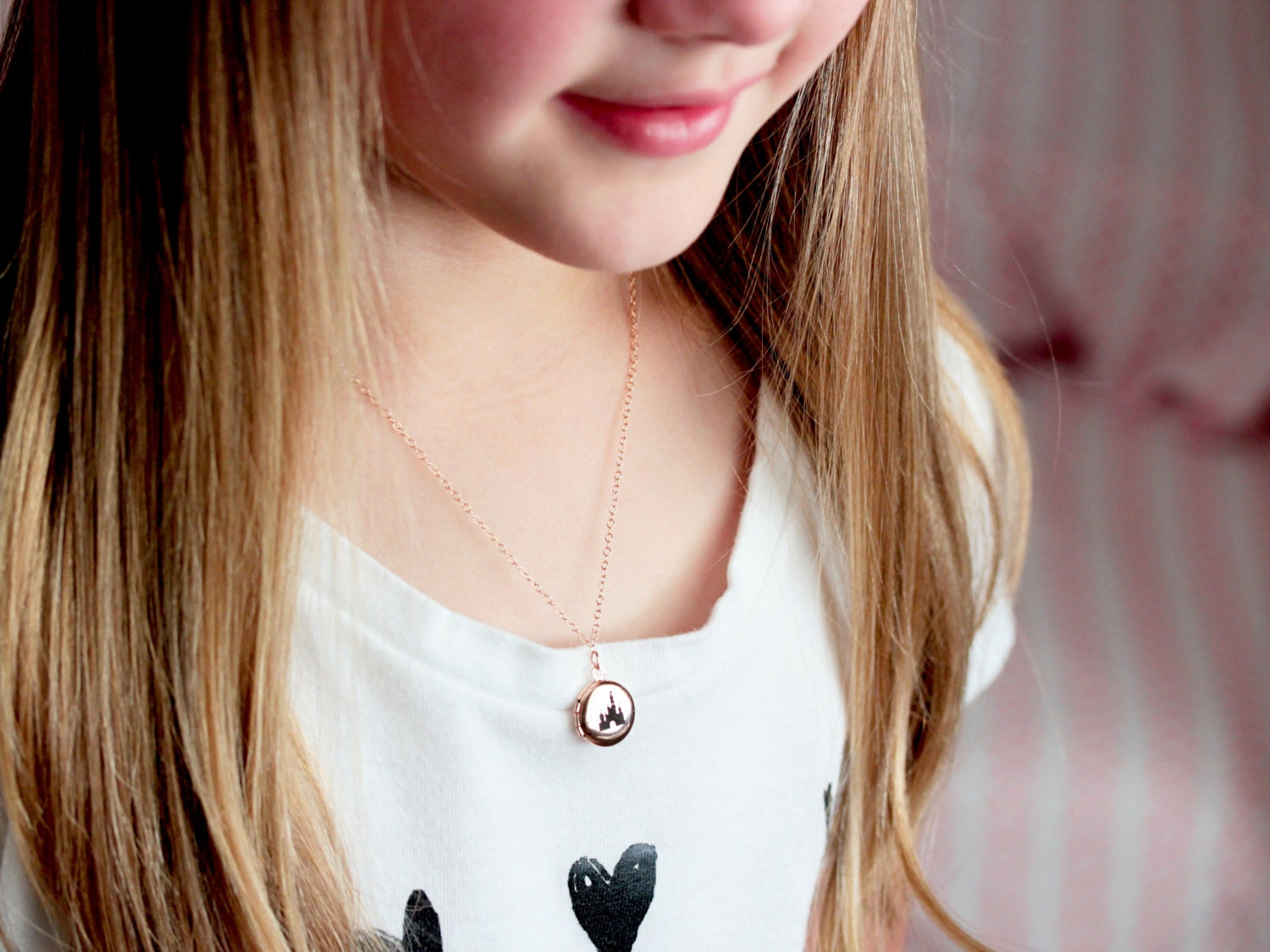 heart p s childrens b mini diamond fairy large locket lockets context silver children pendant