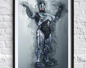 Robocop 'Watercolor' A4 Print