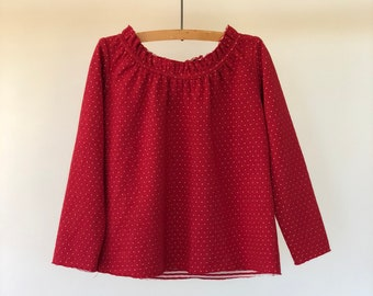 SAMPLE SALE - Kelly t-shirt in Rouge - size 3/4