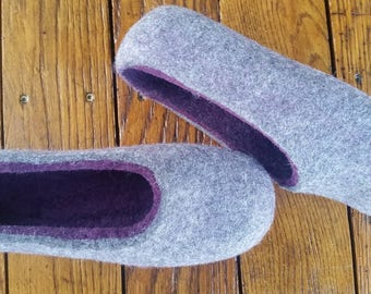 Felted slippers Woolen slippers Home shoes Wool clogs Boiled wool slippers ECO friendly Warm gift Handmade slippers Christmas gift