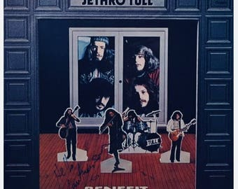 "Jethro Tull *Benefet* LP ""Autographed"" 1990"