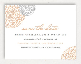 Printable Save the Date Template | INSTANT DOWNLOAD | Blooms | Word or Pages Mac & PC | 4.25x5.5 | Any Colors