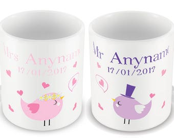 Wedding Mugs - Mr & Mrs Mugs