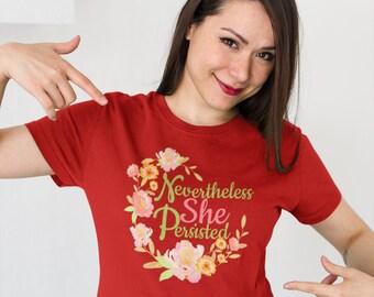 Nevertheless She Persisted – Feminist Protest Women's short sleeve t-shirt