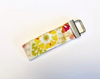 Chapstick Lip Balm Cozy Keychain-Pink and Yellow Floral