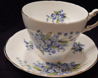 Forget Me Not Teacup and Saucer
