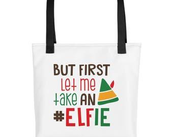 Let Me Take an Elfie - Tote bag