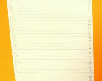 To Do Planner Paper, Narrow Lined, 54 Sheets