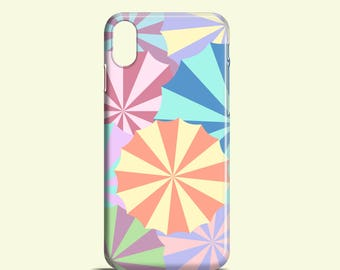 Bunte Schirme Telefon Fall / Pastell iPhone X Case, iPhone 8, Phone 7, 7 Plus, Telefon 6 s, 6, 5, 5 s, Handy Samsung Galaxy S7, S6, S6 Edge