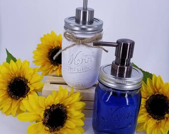 Mason Jar Pump || Soap Dispenser || Recycle || Repurpose || Mason Jar || Eco Friendly || Lotion || Kitchen || Rustic Decor