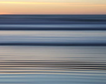 Limited Edition Fine Art Photography Print, Large Wall Art, Abstract, Long-exposure Photography, Beach Art, Sunset, Furrow