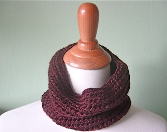 The Mini Cary Cowl - Luxurious Hand Crochet Merino Wool Scarf