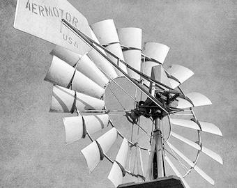 Aermotor Windmill, Windmill Art, Farmhouse Decor, Water Pump, Texas, Rustic Home Decor, Farm, Rural, Country Decor - Aermotor Windmill USA