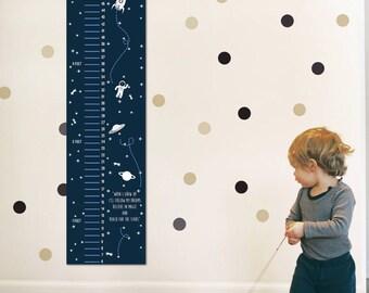 Children growth chart, Baby growth chart, Kids Height Chart, Space Themed Growth Chart,Wall Growth Chart, Wall Height Chart, Height ruler