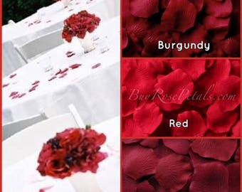 Red Rose Petals- 1,500 Silk Rose Petals