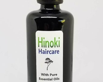 Hinoki Hair Oil Organic Ginseng Leaf Infusion with Pure essential oils of Hinoki and Nettle Scalp Oil treatment All Natural hair growth