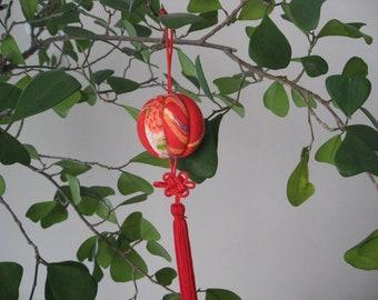 Kimekomi Ball Ornament ,silk kimono fabric, #2