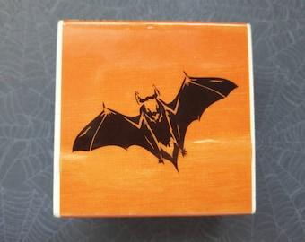Bat Halloween Wood Mounted Rubber Stamp Scrapbooking & Paper Craft Supplies