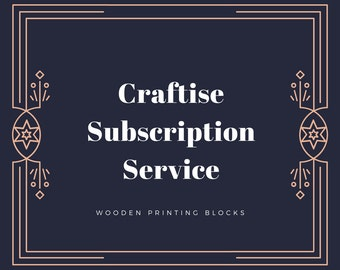 Wooden Printing Block Subscription Service, Monthly Subscription Service, Subscription Box for Crafters