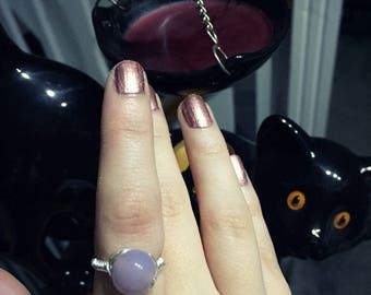 Wire wrapped precious stone ring