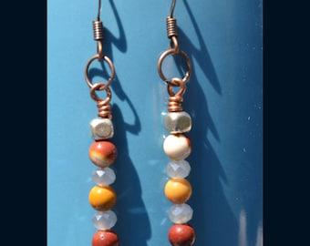 Mookaite Jasper Dangle Earrings