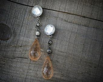 Tear Drop Clip On Earrings