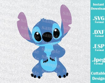 INSTANT DOWNLOAD SVG Disney Inspired Stitch from Lilo and Stitch for Cutting Machines Svg, Esp, Dxf and Jpeg Format Cricut Silhouette