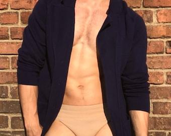 Navy Wool Cardigan