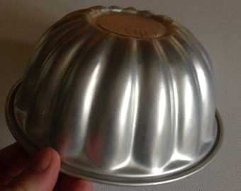 vintage retro alluminium jelly jello mold mould