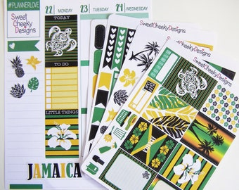 Jamaica Weekly Kit!  Available for Erin Condren Life Planner or MAMBI/Happy Planner