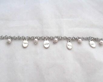 8 inch Inspirational Charm Bracelet (1288)