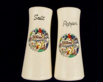 Vintage Illinois Souvenir Salt and Pepper Shakers