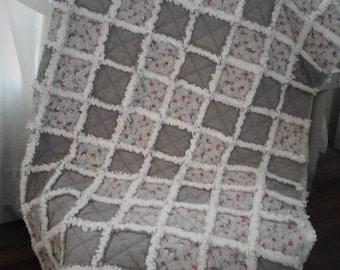 Gray Rag Lap Quilt