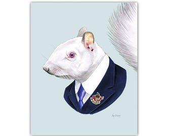 Albino Squirrel print 5x7