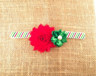 Christmas Headband, Baby Girl Headband, Toddler Headband