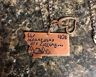"Montana Necklace ""the mountains are calling"""