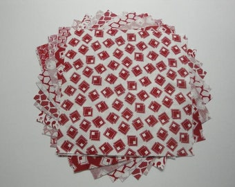 """Layer Cake-""""Red & White"""" Mixed Prints by Choice Fabrics"""