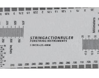 Guitar String Action Ruler Gauge Tool Measuring Kit for Electric Bass and Acoustic Guitar