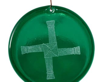 Saint Brigids Cross  Suncatcher Etched