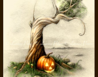 "Halloween Island 5.5"" x 8.5"" Archival Print"