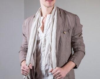 Cocoa Brown Linen Jacket