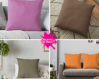 THROW PILLOW + FLOOR Pillow Covers: Pantone Fashion Colors 2018 | Solid Colors | Ultra Violet, Russet Orange, Pink Lavender, Sailor Blue ...