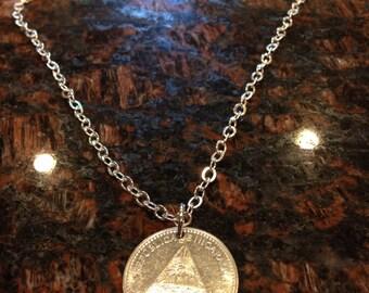 Nicaragua 5 Cordoba Oro Coin Necklace