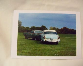 Antique cars, Notecard