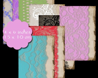 8 Shabby Lace Tags