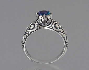 BEATRICE silver ring with Alexandrite