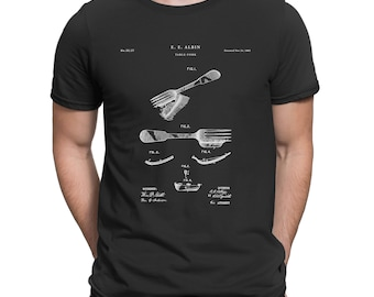 Fork Patent T Shirt, Chef Gift, Chef T-shirt, Cook Gifts P256