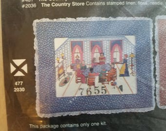 Country Scenes Quilting Bee Counted Cross Stitch Kit Unopened