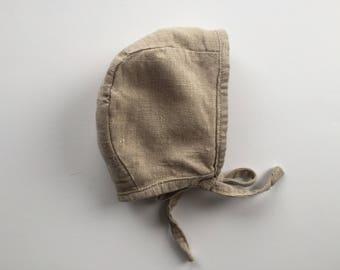Linen Bonnet/Gauze Bonnet